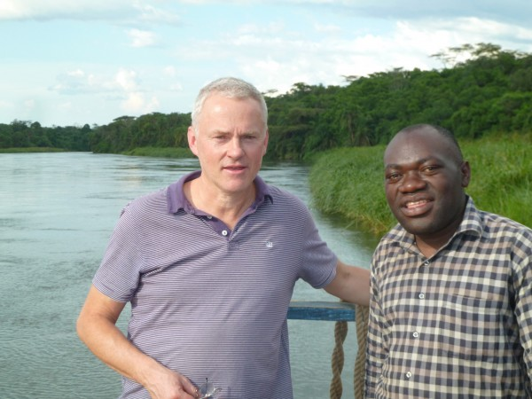 Peter with Archdeacon Mulemberi