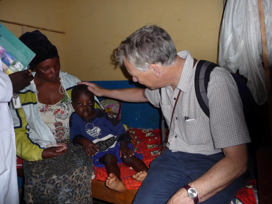Tim seeing a patient Mahagi hospital
